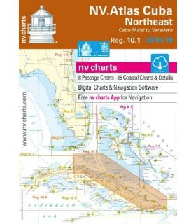 NV charts Cuba Northeast - carte marine