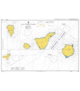 Admiralty 1861 - Islas Canarias,Gran Canaria to El Hierro - Carte marine papier
