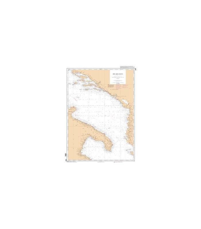 3976 - Mer Adriatique Partie Sud - Carte marine Shom