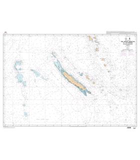 7321 - Des Récifs Bampton à l'île Hunter - Nouvelle-Calédonie - Vanuatu - Carte marine Shom papier