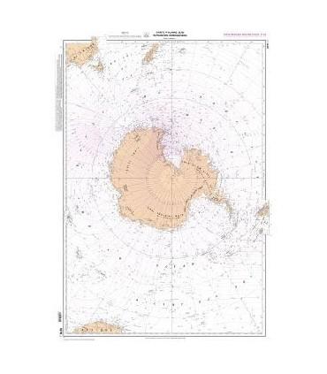 5879 - Carte polaire sud en projection stéréographique - Déclinaison Magnétique 2015