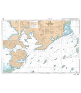 7645 - Canal de La Havannah et Canal Woodin - Carte marine Shom