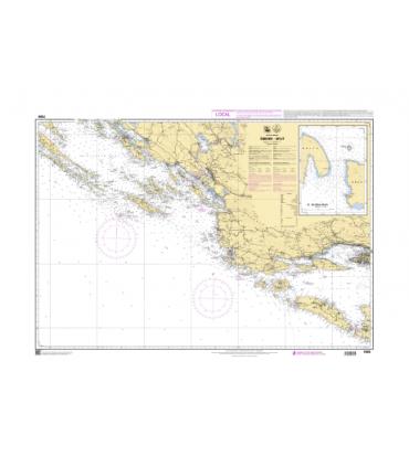 7696 - Sibenik Split - Carte marine Shom papier
