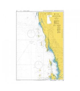 Admiralty 824 - Burma (Myanmar) Heinze Islands to Mergui - Carte marine papier