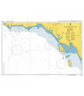 Admiralty 3966 - Ko Chuang to Ko Kut - Carte marine papier