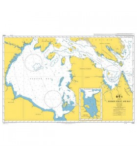Admiralty 4406 - Hudson Strait and Bay - James bay - Carte marine papier