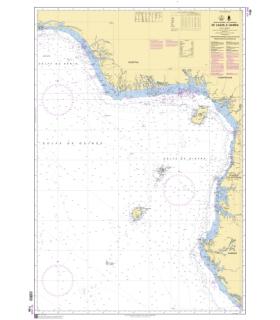 7188 - de Lagos à Gamba - Carte marine Shom
