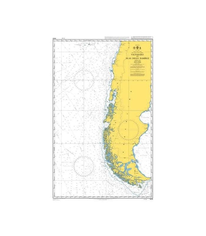 Admiralty 4609 - Valparaiso to islas Diego Ramirez - Carte marine Admiralty