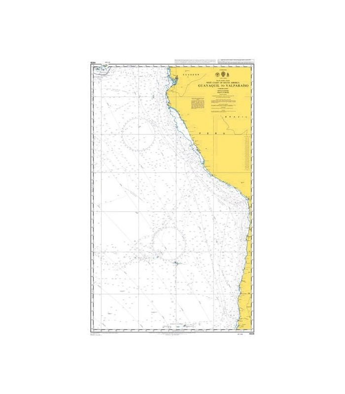 Admiralty 4608 - Valparaiso to islas Diego Ramirez - Carte marine Admiralty