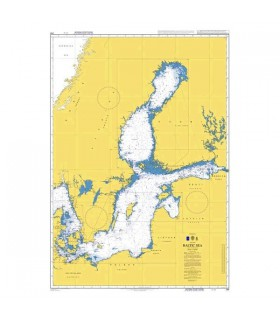 Admiralty 259 - Baltic Sea - Carte marine papier