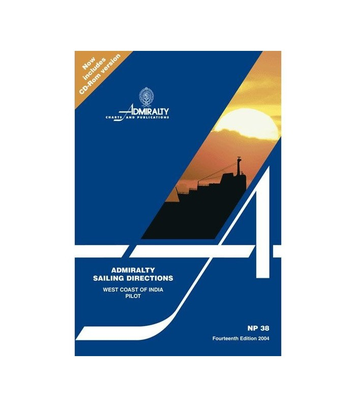 NP38 - West Coast of India Pilot - Instructions nautiques Admiralty