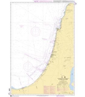 7256 -  De Soûr à Al Arish - Carte marine Shom papier