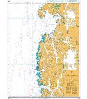 Admiralty 4258 Chile - Golfo de Penas to Golfo Trinidad