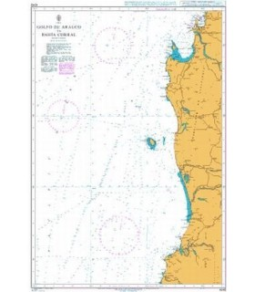 Admiralty 4245 - Golfo de Arauco to Bahia Corral - Carte marine Admiralty