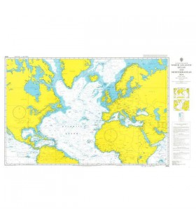 Admiralty 4004 - North Atlantic Ocean and Mediterranean Sea - Carte marine papier