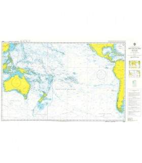 Admiralty 4007 - South Pacific Ocean - Carte marine papier