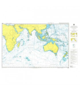 Admiralty 4005 - Indian Ocean - Carte marine papier
