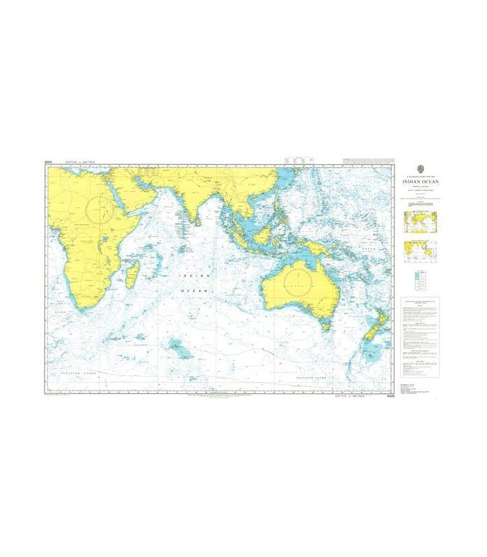 Carte Marine Afrique Du Sud.Carte Marine Shom Admiralty 4005 Indian Ocean Carte