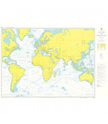 Admiralty 4001 - Atlantic and Indian Oceans - Carte marine papier