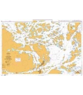 Admiralty 821 - Sandhamn to Ostra Saxarfjarden - carte marine Admiralty
