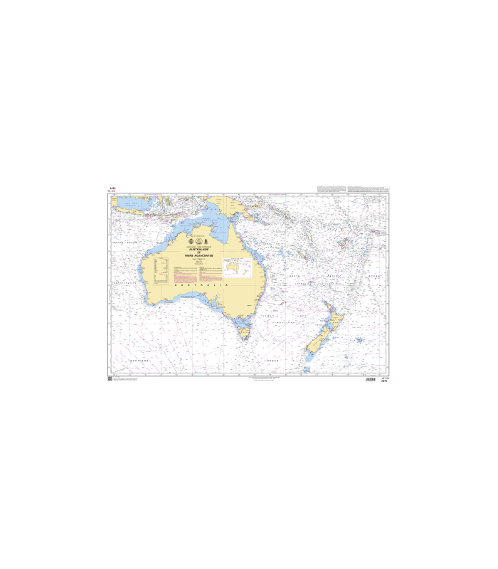 7271 - Australasie et mers adjacentes - carte marine Shom