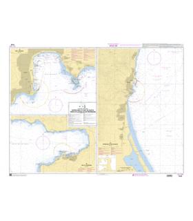 7436 L - Approches et port de Bastia - Ajaccio et Propriano - Carte marine Shom papier