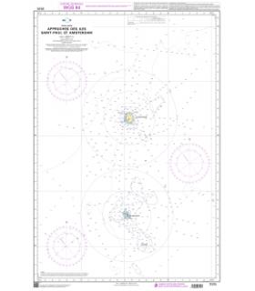 7171 - Approches des îles Saint-Paul et Amsterdam - Carte marine Shom papier