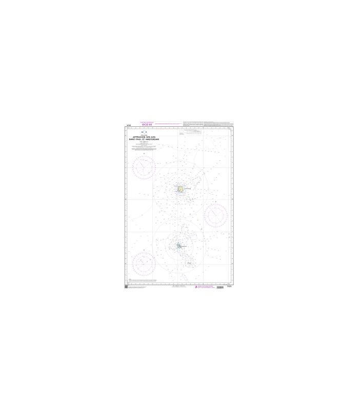 Carte Marine Afrique Du Sud.Carte Marine Shom 7171 Approches Des Iles Saint Paul Et