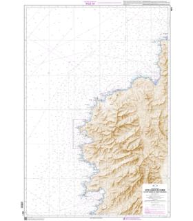 6821 - Du cap Corse au Golfe d'Ajaccio - Carte marine Shom papier