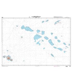 6689 - Iles Tuamotu (partie Ouest), de Tahiti à Rangiroa et Makemo - Carte marine papier