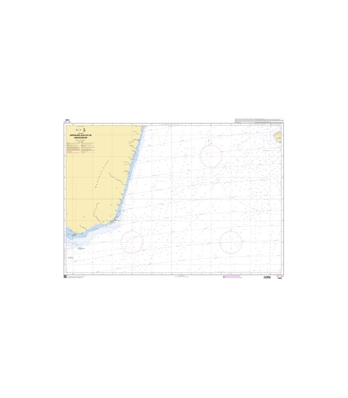Carte Marine Afrique Du Sud.Carte Marine Shom 7489 Approches Sud Est De Madagascar
