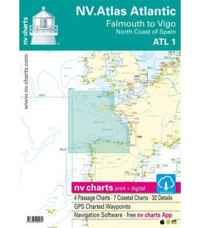 Nv Chart Falmouth to Vigo / North Coast of Spain - Carte marine