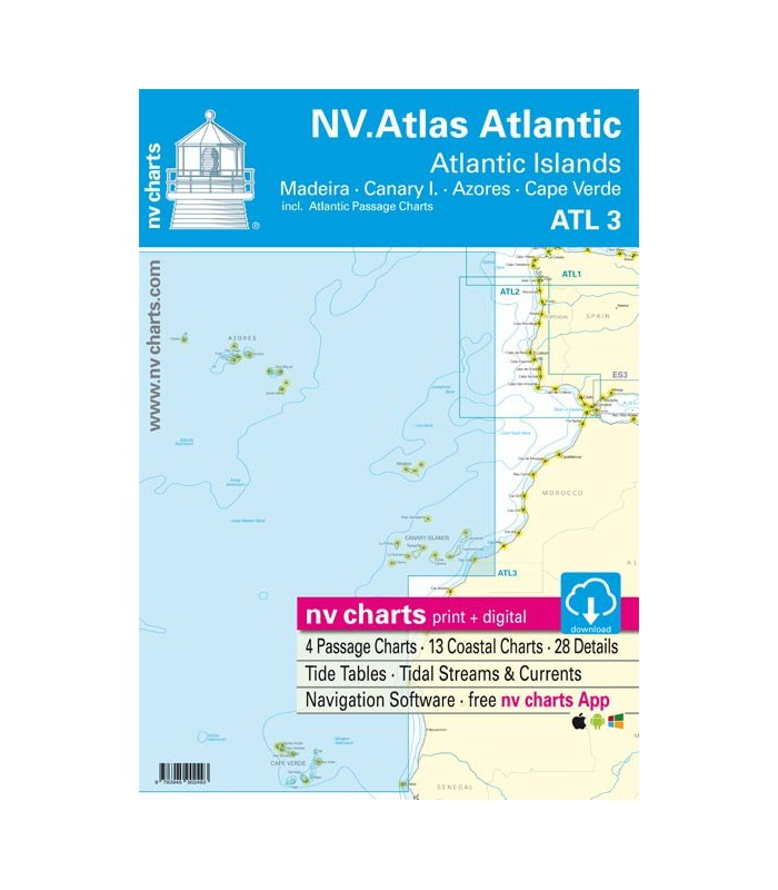 Nv Chart Atlantic Islands / Madeira - Canary Islands - Azores - Cape Verde - Carte marine