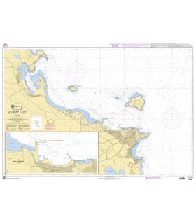 7526 - Approches et Port de Kérkyra (Corfou) - Carte marine Shom