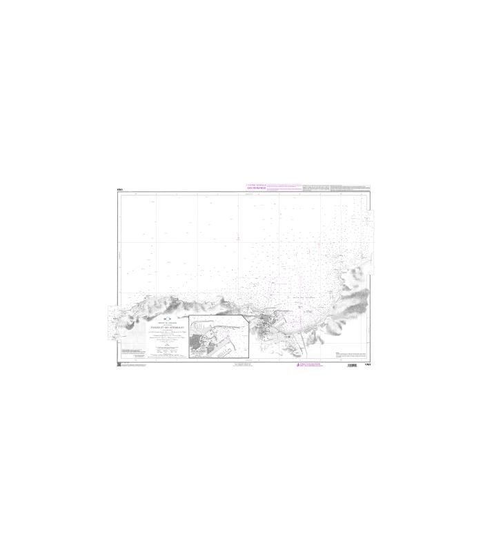 1701 - Tanger et ses atterrages - carte marine Shom