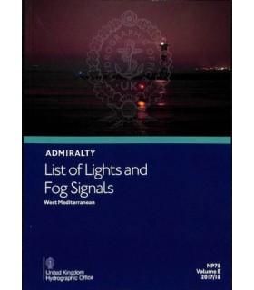Admiralty List of Lights and Fog Signals - Western Mediterranean