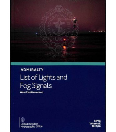 Admiralty List of Lights and Fog Signals - Western Mediterranean