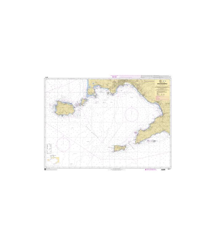 6711 - Golfe de Napoli - carte marine shom papier