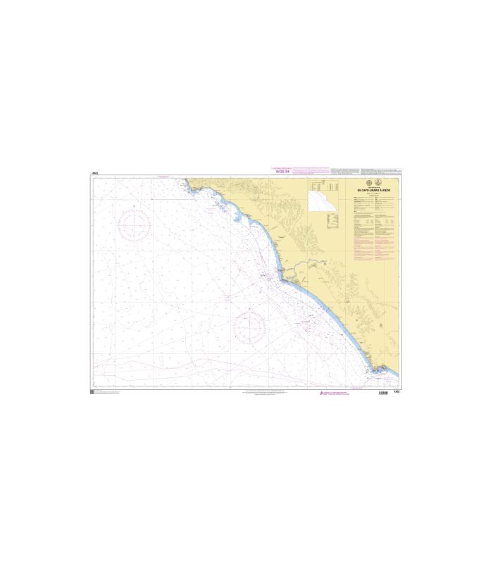 7202 - De Capo Linaro à Anzio - Carte marine Shom papier