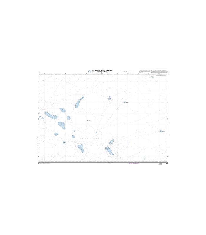 6690 - Iles Tuamotu (partie Centrale), de Makemo à Tatakoto - Carte marine papier