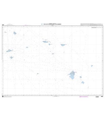 6692 - Des Îles Tuamotu aux Îles Gambier - Carte marine papier