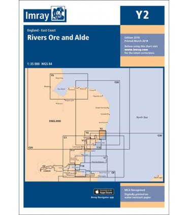 Y2 - Rivers Ore and Alde - Carte marine Imray