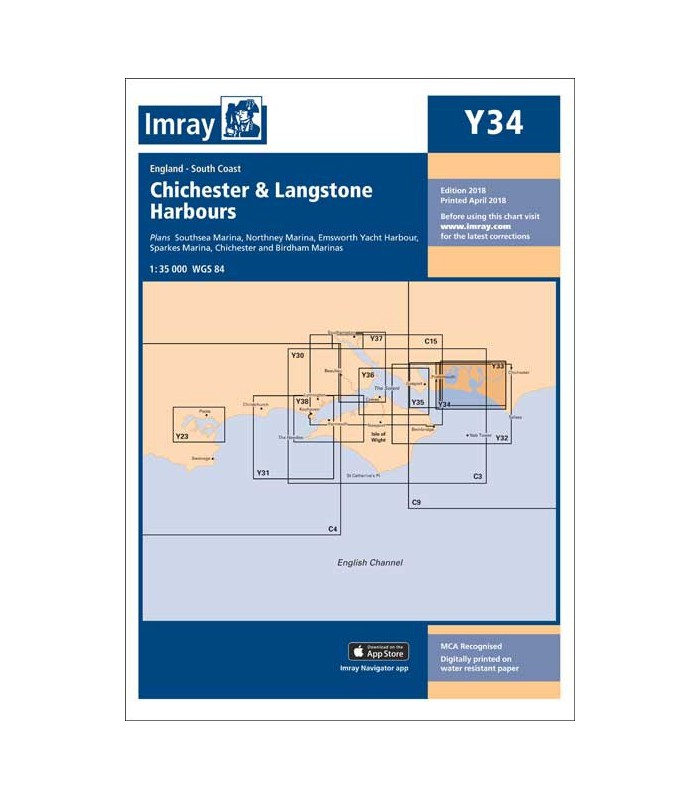 Y34 - Chichester and Langstone Harbours - Carte marine Imray