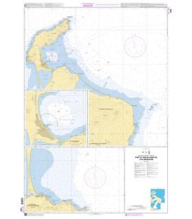 7640 - Port et mouillages de l'Île Miquelon - Carte marine Shom papier