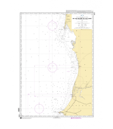 6113 - Du Cap Blanc au Cap Vert - Carte marine Shom papier