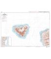 6658 - Ile de Mooréa - Côte Nord-Ouest de Tahiti - Carte marine Shom papier