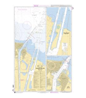 7543 - Abords de Port-Saïd (Bur Sa`id) - Carte marine Shom