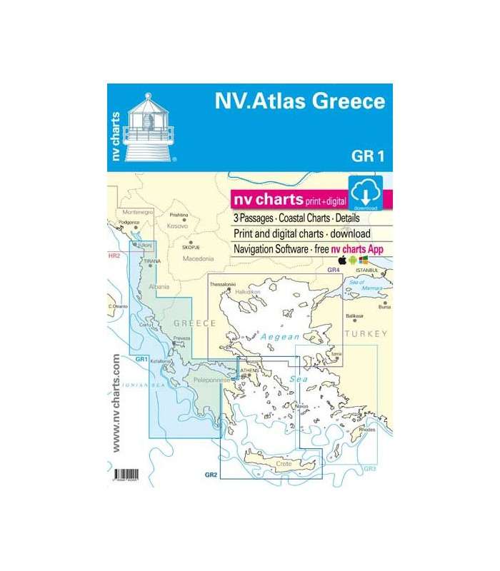 NV Charts Grèce - Ionienne et Péloponese - Carte marine