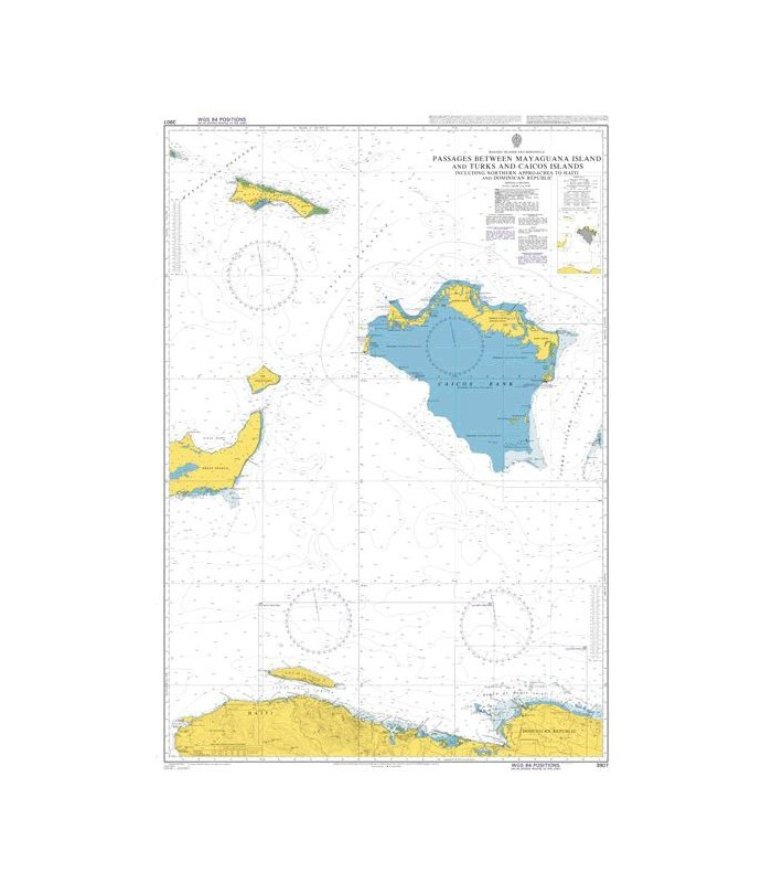 AC3907  Passages Between Mayaguana Island and Turks and Caicos Islands - Carte marine Admiralty