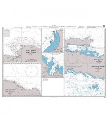 463 Plans on the North Coast of the Dominican Republic - Carte marine Admiralty
